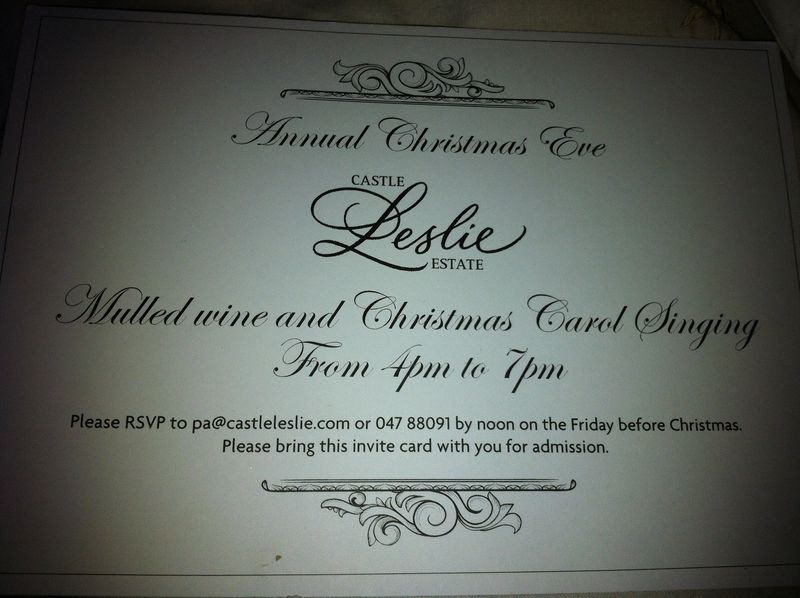 Invite for Castle Leslie