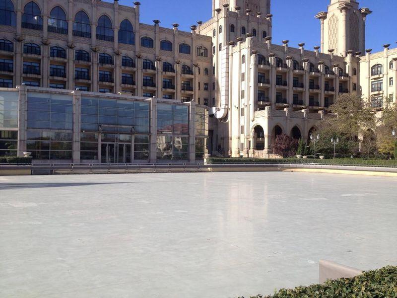 Ice skatting
